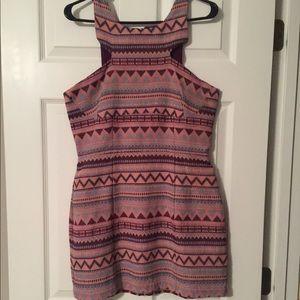 Pink + Purple Tribal Spring Dress